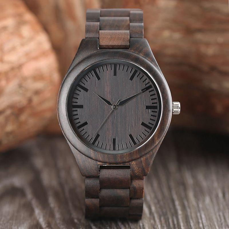 Créatif plein bois naturel mâle montres à la main en bambou roman mode hommes femmes en bois bracelet Quartz montre-bracelet Reloj de madera