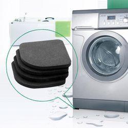 4 unids/set refrigerador multifuncional almohadilla anti-vibración lavadora choque pads esteras antideslizantes inicio práctico suministros