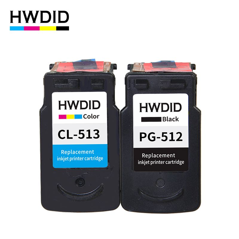 HWDID PG 512 pg512 CL 513 ink cartridge replacement for Canon PG-512 CL-513 for Canon MP240 MP250 MP270 MP230 MP480 MX350 IP2700