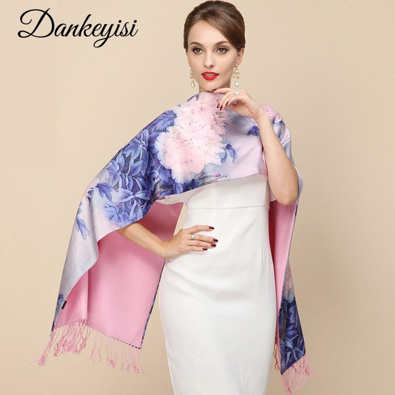 DANKEYISI 2018 Fashion Designer Ladies Big Scarf Women Brand Wraps Real Double-<font><b>deck</b></font> Thickened Brush Autumn Winter Shawl Scarves