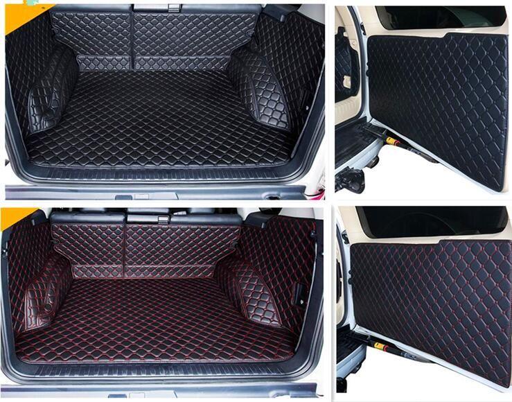 Full set car trunk mats & Back door mat for Toyota Land Cruiser Prado 150 5 seats 2018-2010 durable cargo liner mat boot carpets