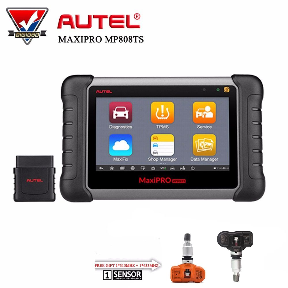 Autel MaxiPRO MP808TS Automotive Diagnostic Tool WIFI Bluetooth OBD2 Scanner Professional Complete TPMS Service+Free Gift