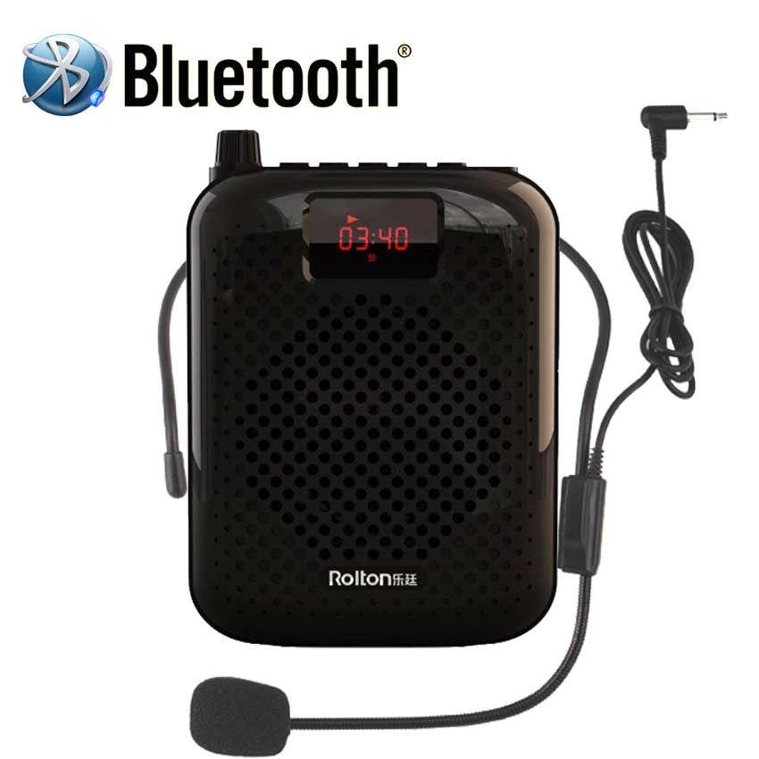 Rolton K500 Bluetooth mégaphone Portable amplificateur de voix taille bande Clip soutien Radio TF MP3 pour Guides touristiques, colonne d'enseignants