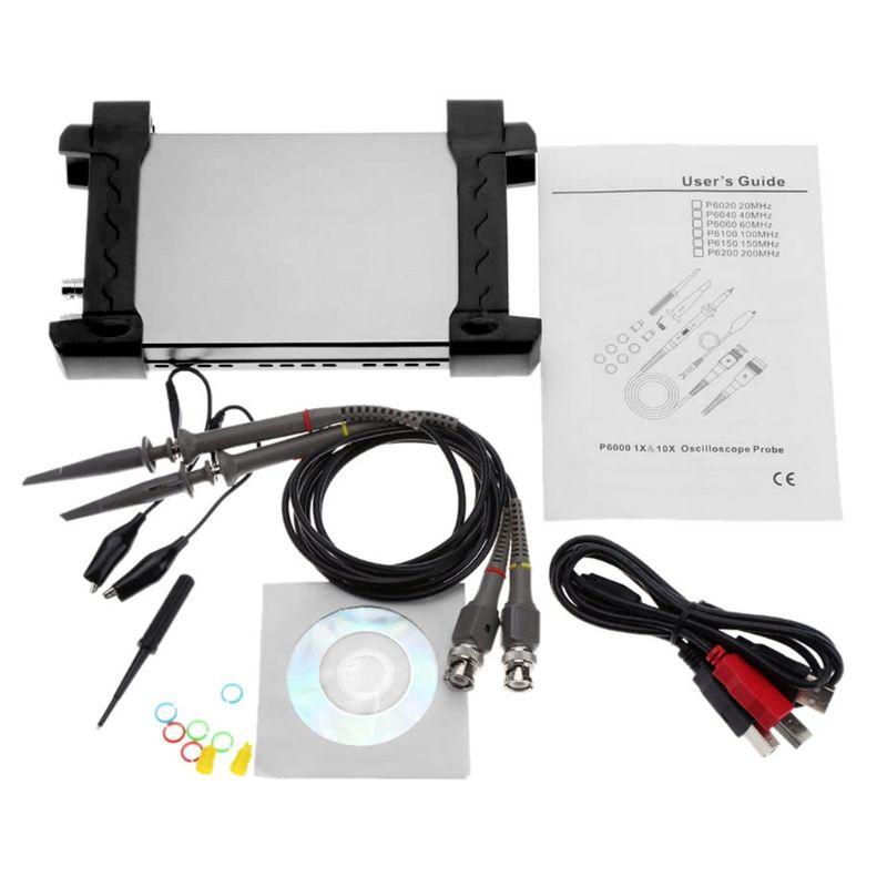 Hantek 6022BE 20MHz Bandwidth 48MSa/s PC Based USB Digital Storage Oscilloscope