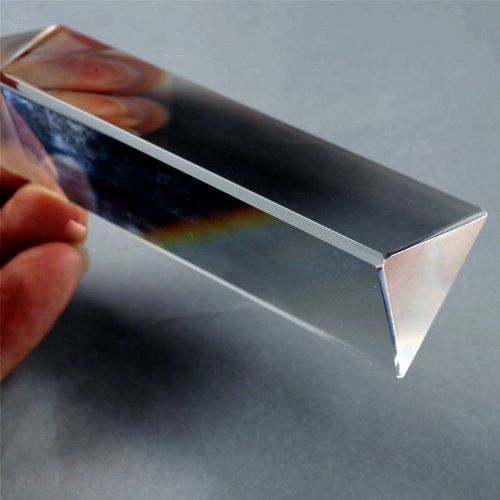 LHLL-Physics Education Prism Precision Optical Glass 4 inches