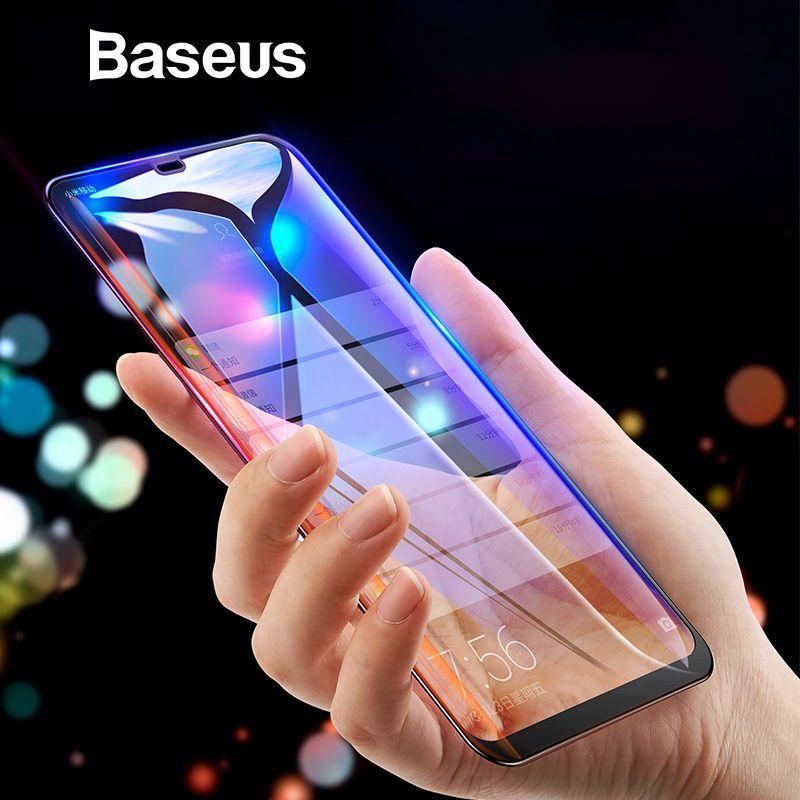 Baseus 0.3mm Mince Couverture Complète verre de protection Pour Xiaomi 8 8 SE protecteur d'écran 3D Surface verre trempé Pour Xiaomi 8