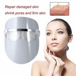 Red LED Light Beauty Full Face Mask Facial Skin Daily Care Tool Boost Blood Circulation Red LED Light Face Massage Instrument