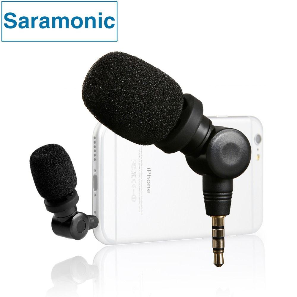 Saramonic imic flexible microphone à condensateur mic avec haute sensibilité pour ios ipad iphone 5/6/7 ipod touch android smartphone