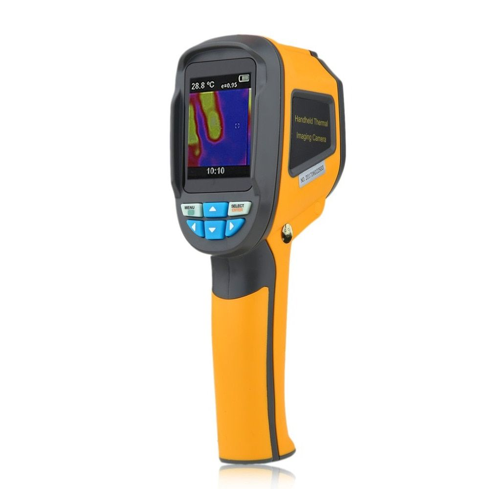 Protable Thermal Imaging Camera Infrared Thermometer Imager -20 C~300 C HT-02 2.4 Inch High Resolution Color Screen