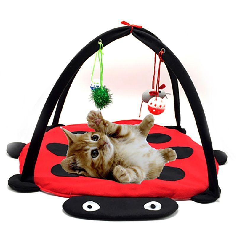 Hamacs chat multifonction drôle jouer suspendu lit de sommeil chat meubles tente avec balles chat jouer maison jouets pour un chat