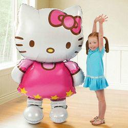 116*68 cm tamaño grande Hello Kitty CAT foil globo/80*48 cm medio cumpleaños de la boda de la historieta decoración del partido globo inflable