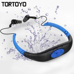 IPX8 Waterproof Swimming MP3 Player Sports Wireless Bluetooth Earphone Neckband Headset Headphone for Swimming Diving Surfing