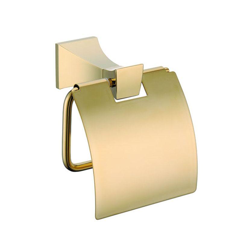 Rolya Prima Promoción Al Por Mayor de Oro Percha de Papel Higiénico Baño de Oro Titular de Papel Higiénico