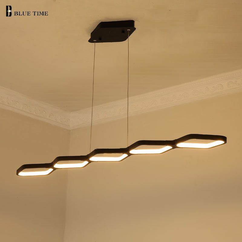 115 CM 69 CM pendentif LED chaude lampe moderne pendentif LED lumières pour salle à manger lumière suspension lampe Lustre lumière prête Stock 110 V 220 V