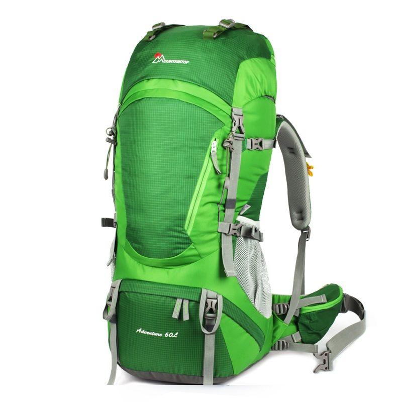 Neue Ankunft Hochwertige Wasserdichte Polyester 55L + 5L Hohe Kapazität Professionelle Klettern Taschen Erfüllen Camping Tourismus Anforderung