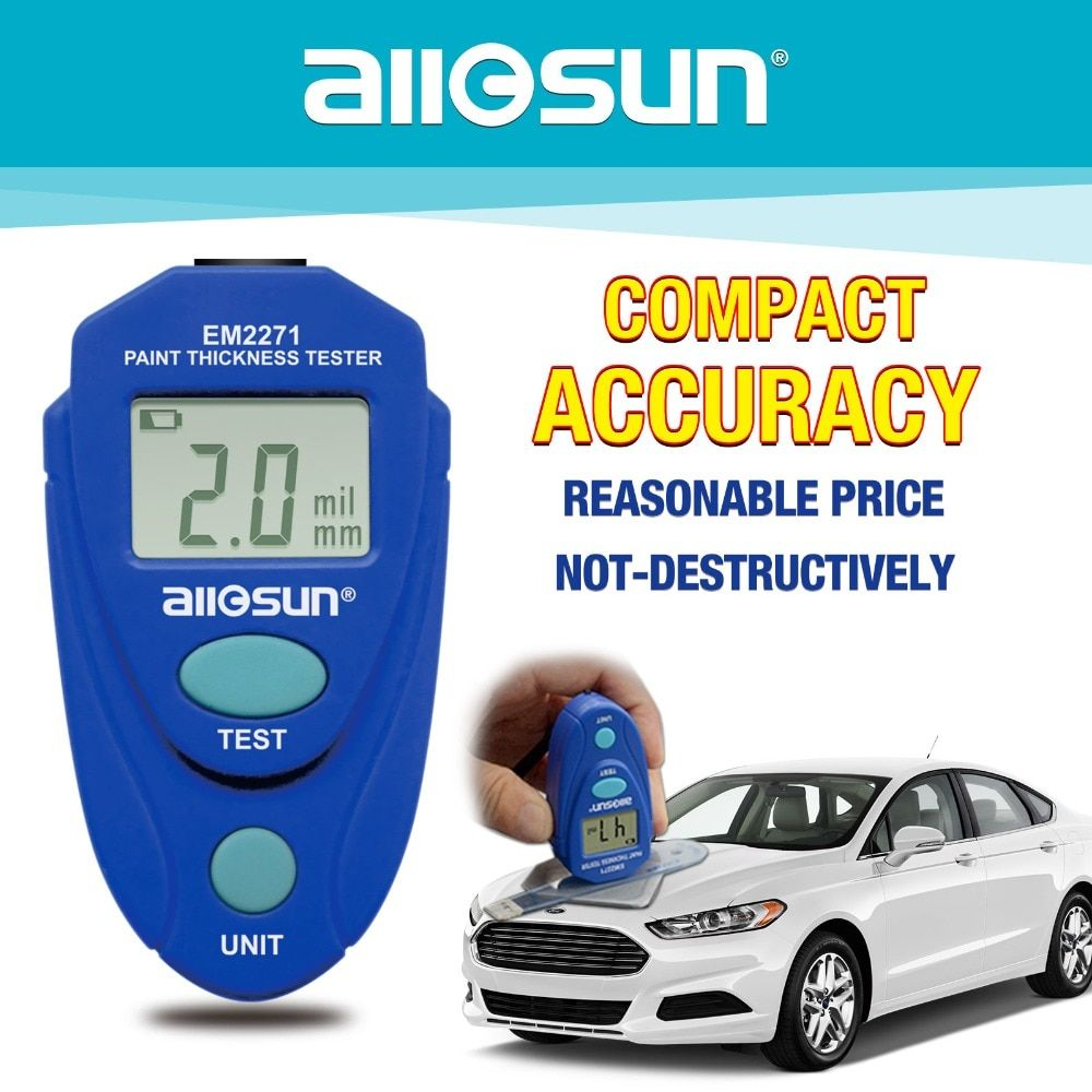 ALL SUN EM2271 EM2271A Digital Mini Automobile Thickness Gauge Car Paint Tester Thickness Coating <font><b>Meter</b></font> Ship From Russia