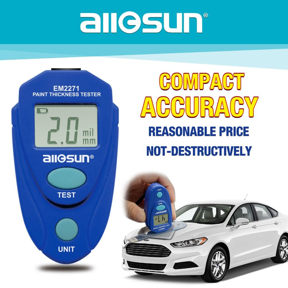 Digital Mini Coating Thickness Gauge Car Paint Thickness Meter Paint Thickness <font><b>tester</b></font> Thickness Gauge EM2271 all-sun