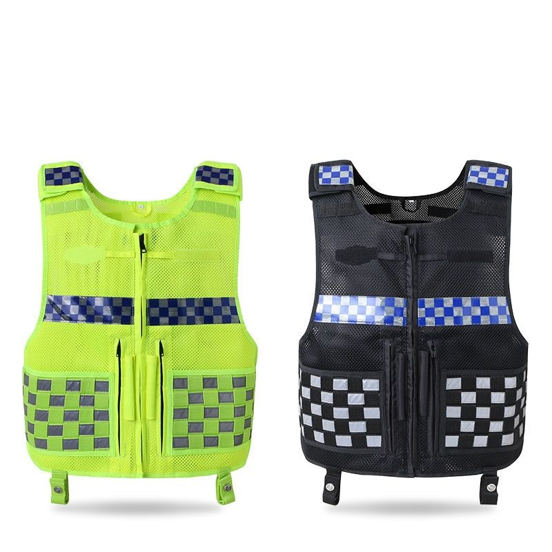 Reflective Vest Multi-function Tactical Safety Vest Reflection plaid Breathable Workwear Work Driving Security clothing