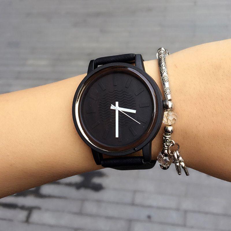 2017, Новая мода классические простые Стиль Топ Известный люксовый бренд кварцевые часы женские повседневные кожаные часы Relogio feminino
