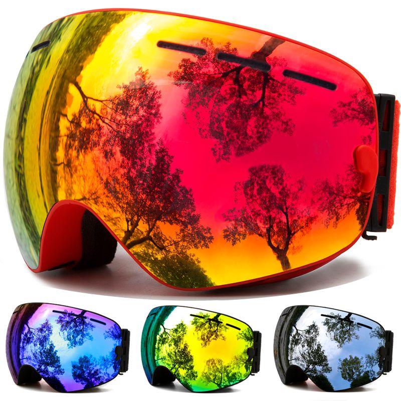 Lunettes de Ski, Sports de neige d'hiver lunettes de Snowboard avec Protection Anti-buée UV pour hommes femmes jeunesse motoneige Ski masque de patinage