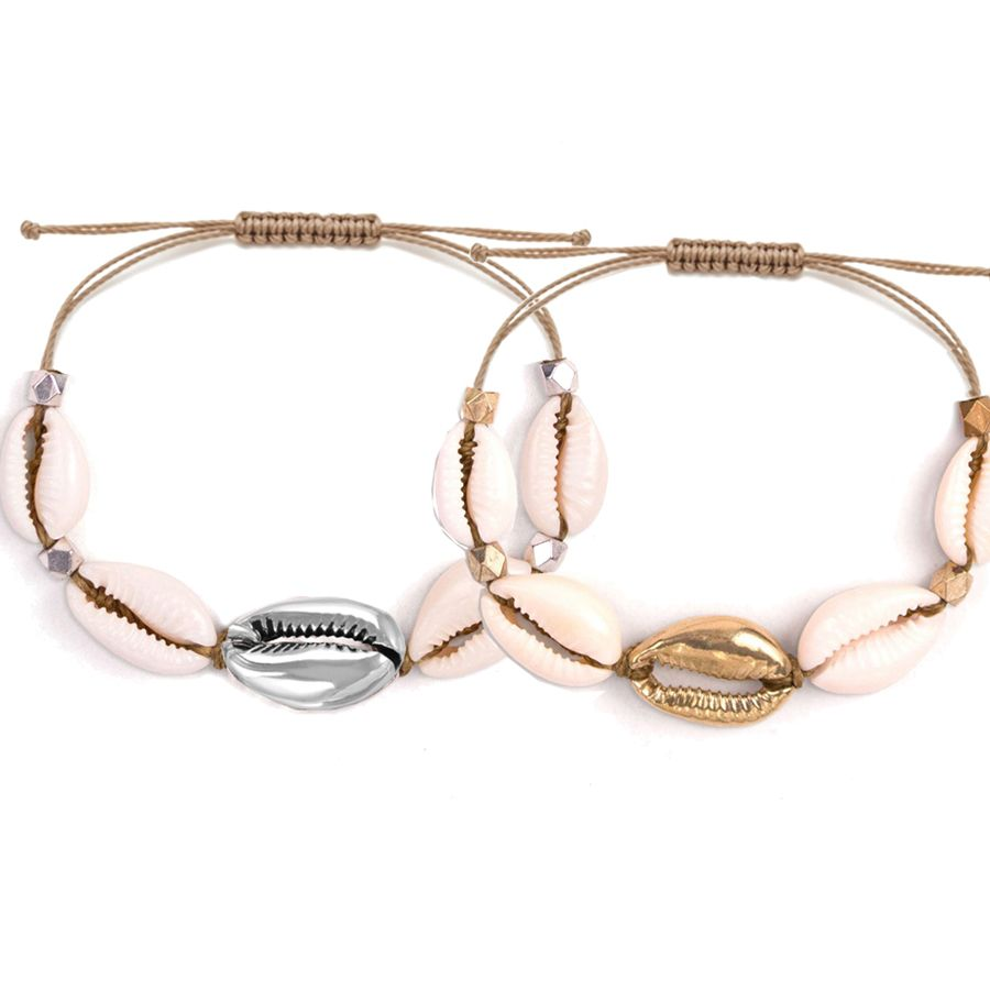 bohemian natural Cowrie Shells handwoven macrame cotton cord friendship bracelet jewelry naruto unicornio bracelet homme