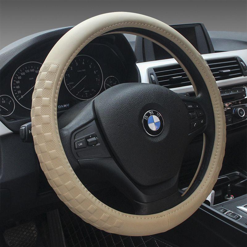 Пояса из натуральной кожи Руль крышка Спорт автомобиль руль охватывает Универсальный Размер M 38 см четыре сезона руль S концентраторы