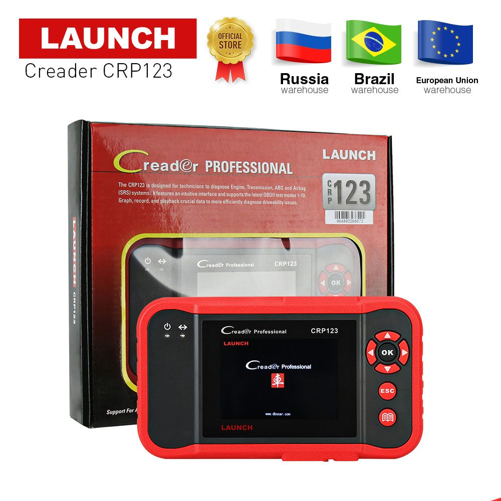 LAUNCH professtional Creader CRP123 OBD2 Code Reader Scan tool 3.5' TFT LCD dIsplay X431 CRP123 diagnostic Scan tool free update