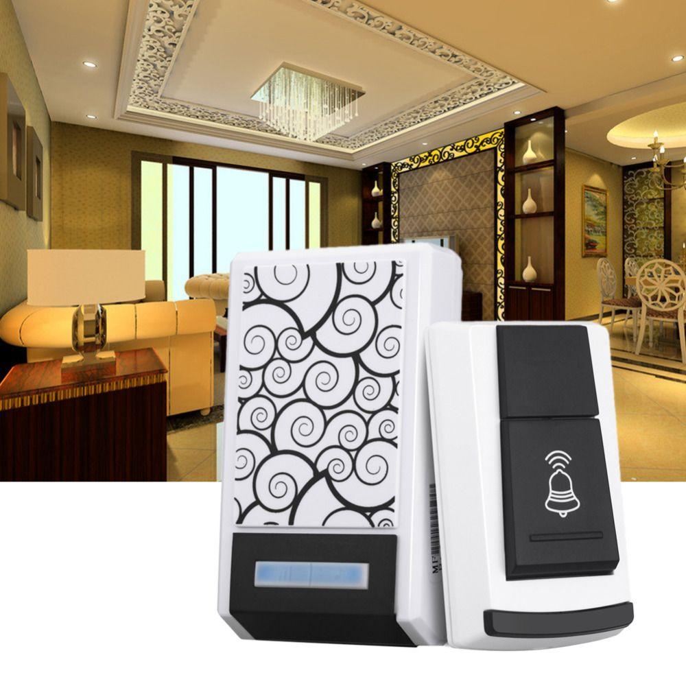 Wasserdichte Intelligente LED Digital 36 Tunes Drahtlose Fernbedienung Türklingel Startseite Receiver Türsicherung Mit LED-Licht