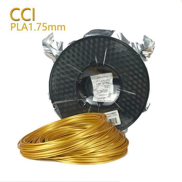 3D materiales de impresión 0.5 kg seda filamento Pla 1.75mm impresión material plástico color oro 3D pluma impresora muestra de filamento oro