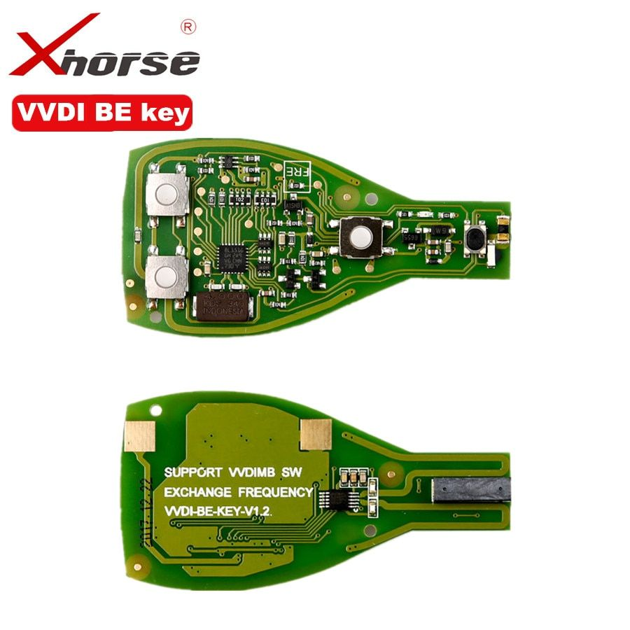 XHORSE VVDI BE Key Pro For Benz XNBZ01CH Remote Key Chip Improved Version Smart Key Shell 3 Button Can exchange token for MB BGA