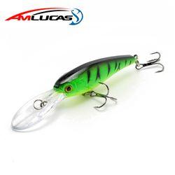 Amlucas гольян рыболовная приманка 9 см 7,5 г воблеры с 6 # крючками плавающая твердая приманка рыболовные снасти Pesca приманка для ловли карпа WE174