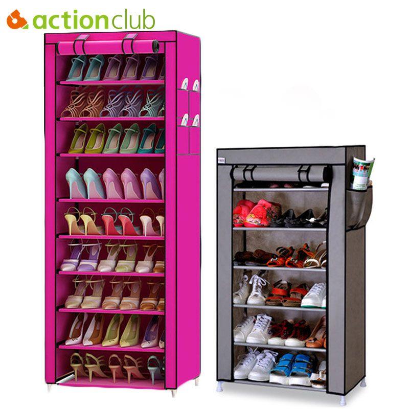 Actionclub 7 couches 10 couches chaussures meuble de rangement bricolage montage étagère à chaussures étanche à la poussière étanche à l'humidité grande capacité étagère à chaussures