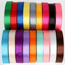15mm 25Yards Silk Satin Ribbon Wedding Party Decoration Invitation Card Gift Wrapping Scrapbooking Supplies DIY Bow Craft