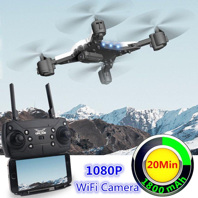 Nouvelle RC Drone avec Caméra 1080 p Selfie Drones avec Caméra HD Pliable Quadcopter Quadrocopter avec Caméra Fly 18 Minutes VS E58