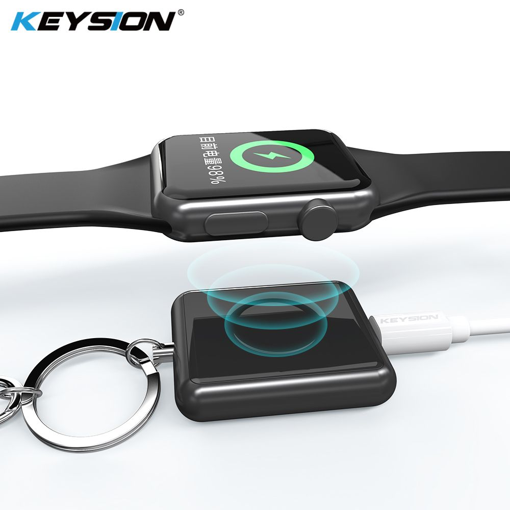 KEYSION Magnetic Wireless Charger for Apple Watch Series 4 3 2 1 Metal + Tempered Glass Wireless Charging for Apple Watch 4 3 2
