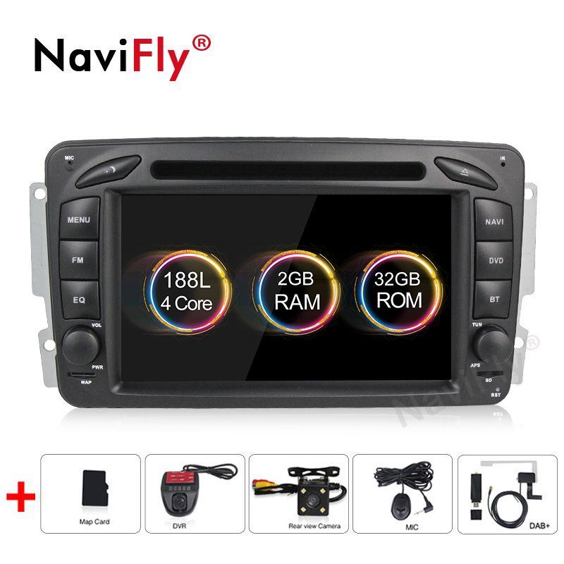Navifly Android9.1 Unterstützung RDS TPMS TUPFEN Carplayer Auto DVD GPS-Player für Mercedes Benz W209 W203 W463 Viano W639 Vito mit 4G