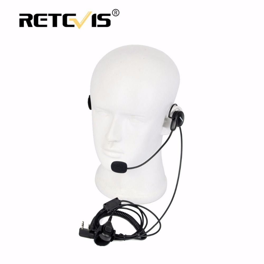 Universal 2Pin Finger PTT Earpiece Soft Microphone Headset For Kenwood For BAOFENG UV-5R B888s Retevis H777 RT5 Walkie Talkie