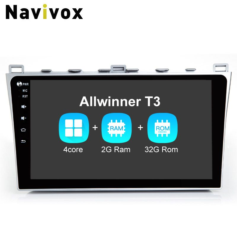 Navivox 10.2'' Android 7.1Car GPS Navigation Stereo Video Player For Mazda 6 2008-2015 With canbus RDS/DAB+/3G/4G/WIFI/BT/SWC