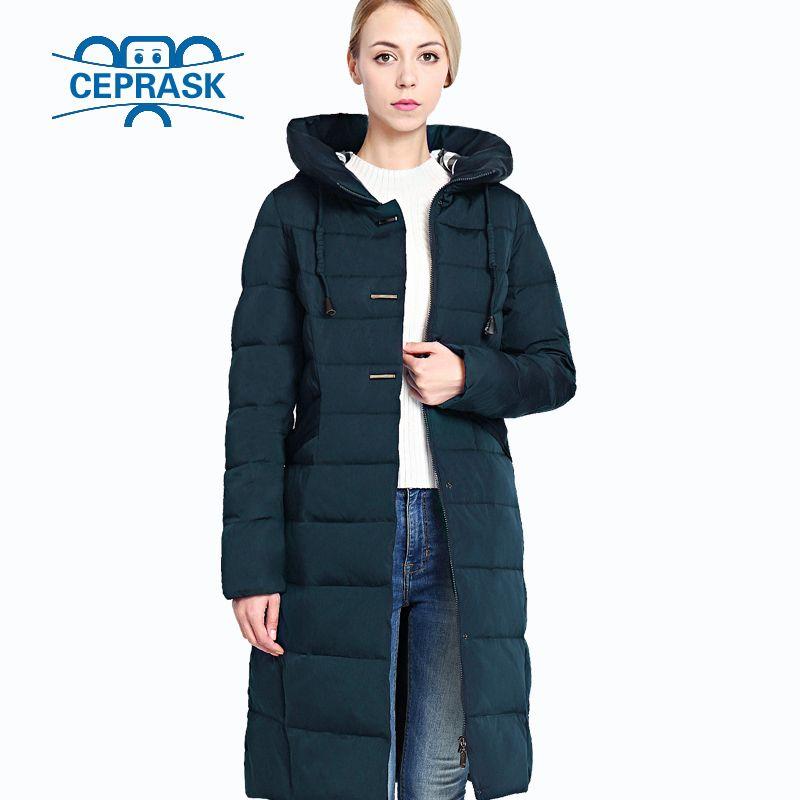 2018 New Winter Women's Jacket Plus Size Long Hoodie Warm Women Winter Down Jacket Biological-Down Female Parkas 6XL CEPRASK