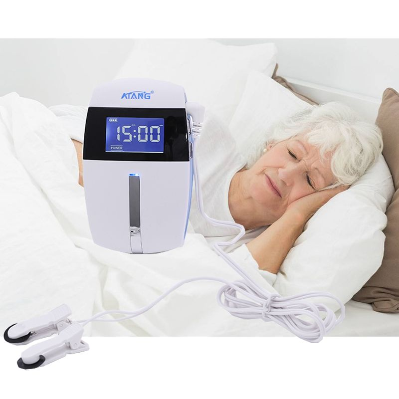 Insomnia Therapy ATANG 2018 Anxiety Relief Alpha-Stim Electronic Acupuncture Apparatus Sleeping Aid Device CES Anti Depressed