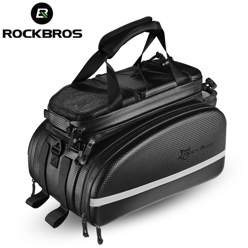 ROCKBROS Bike Seat Bag Rear Backpack Trunk Cycling Pannier Package Large Capacity Bicycle Accessories MTB Cycle Bicicleta Bag