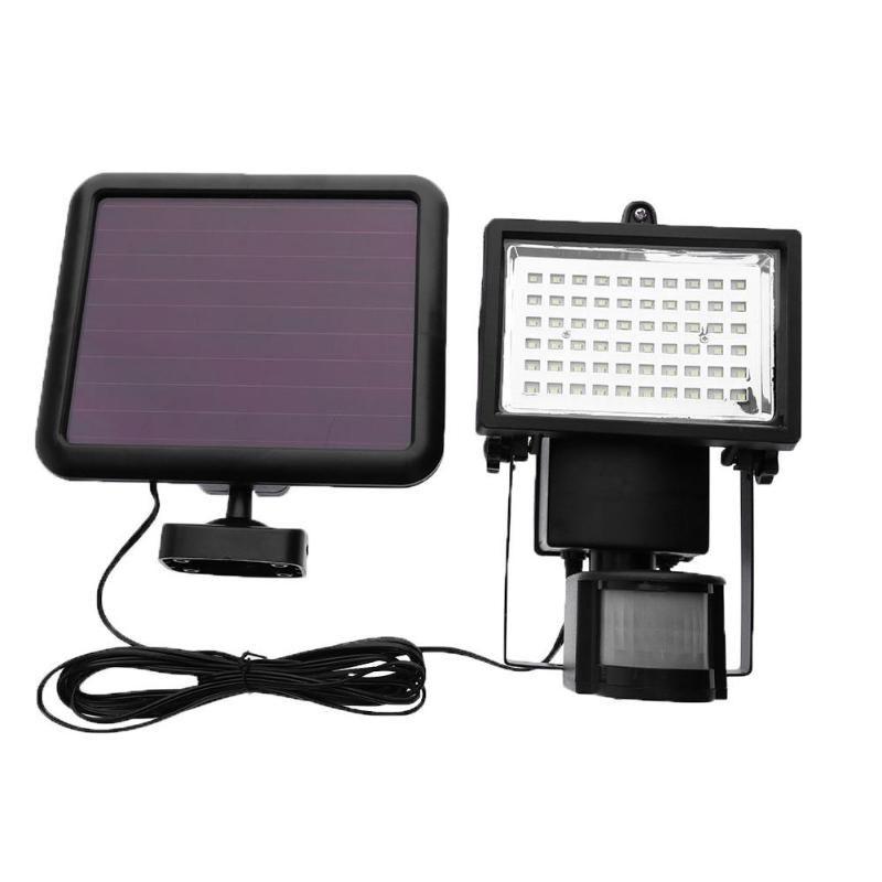 60 LED PIR Motion Sensor Solar Light Solar Power Panel Flood Light Outdoor Garden Yard Landscape Floodlight Emergency Wall Lamp