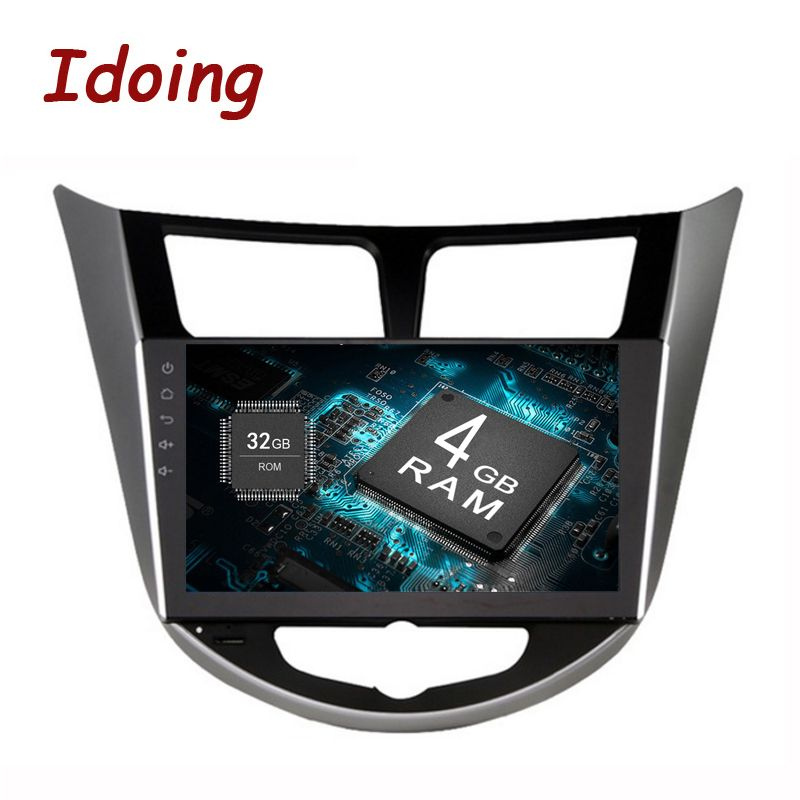 Idoing 2Din 8 Core 4g + 32g 9 Android8.0For Hyundai/Verna/I25/Solaris2010-2017 Auto multimedia GPS-Spieler Schnelle Boot Spiegel Link Wifi
