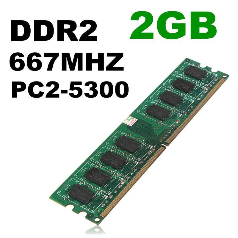 Neue Ankunft 2 GB Ddr2-speicher RAM PC2-5300 5300U DDR2-667 MHZ 240-Pin Speicher RAM für Desktop PC DIMM