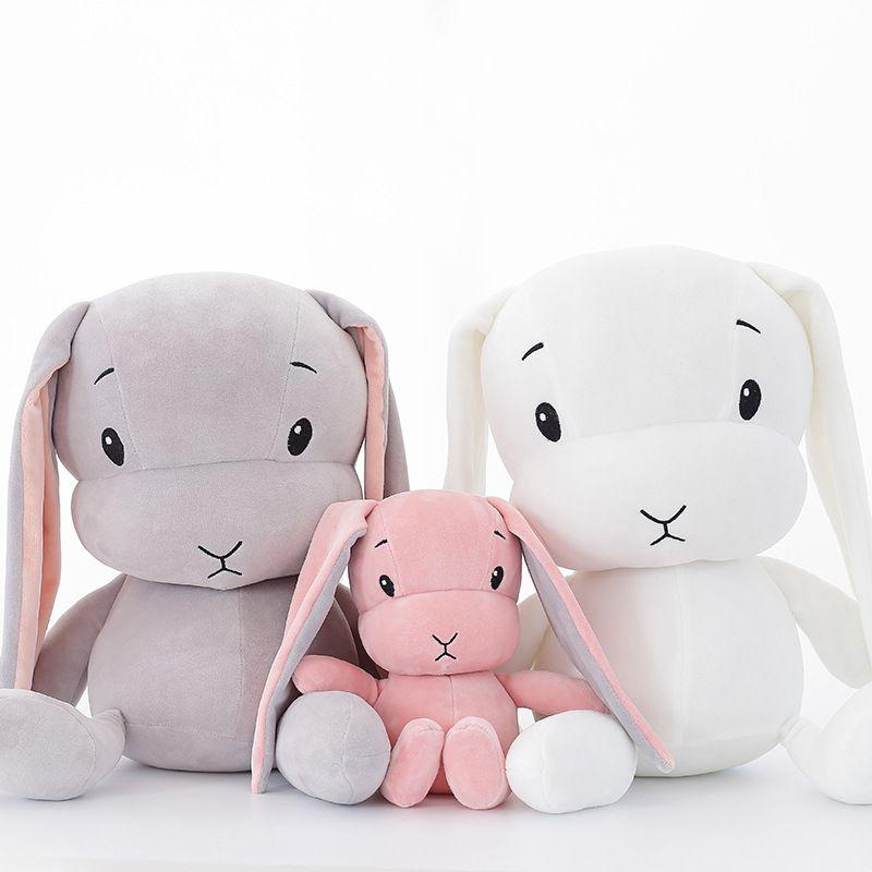 1pc 30/50cm mignon lapin en peluche peluche douce lapin poupée bébé enfants jouets animal jouet anniversaire noël saint-valentin cadeau pour amoureux