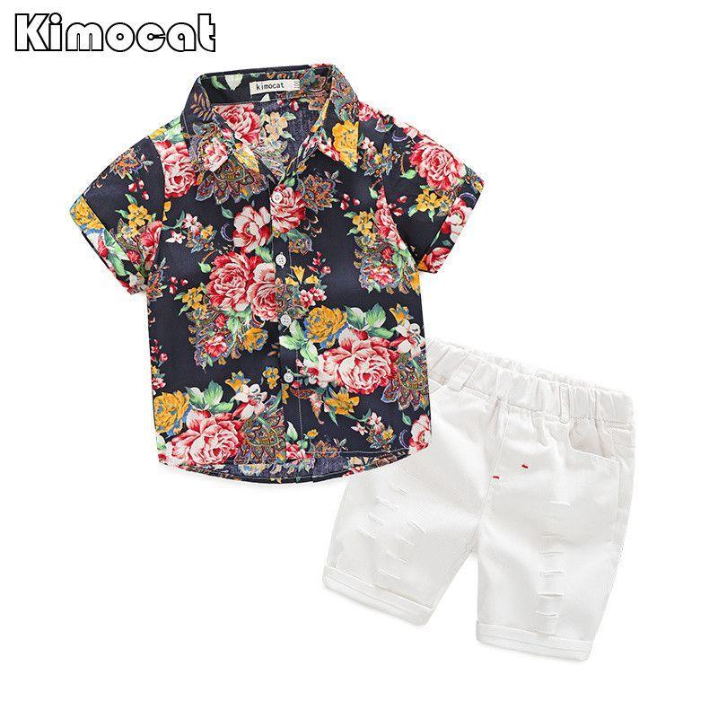 Kimocat Brand Summer style Children clothing sets Baby boys t shirts+shorts pants <font><b>2pcs</b></font> sports suit kids clothes