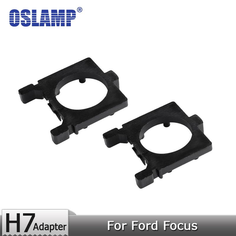 Oslamp Fitment For Ford Focus Led H7 Headlight Bulbs Mounting Accessories Plastic Adapter Holder 1 Pair Adapter Base for H7 Lamp