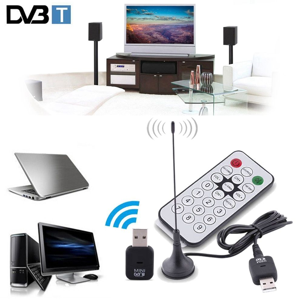 Mini USB 2.0 Digital DVB-T SDR+DAB+FM HDTV Tuner TV Antenna Dongle Stick Video Broadcasting Recording SDR Antena DVBT Receiver