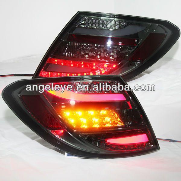 Für Mercedes-benz W204 2007-2011 jahre C180 C200 C260 C300 LED Rückleuchten All Schwarz Farbe