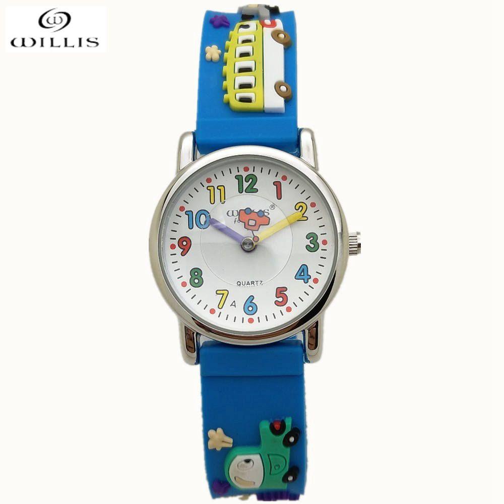 WILLIS Brand Time Teacher Little Boys Children's First Wrist Kids Watches Cartoon Character 3D Cars Children's watches for boys